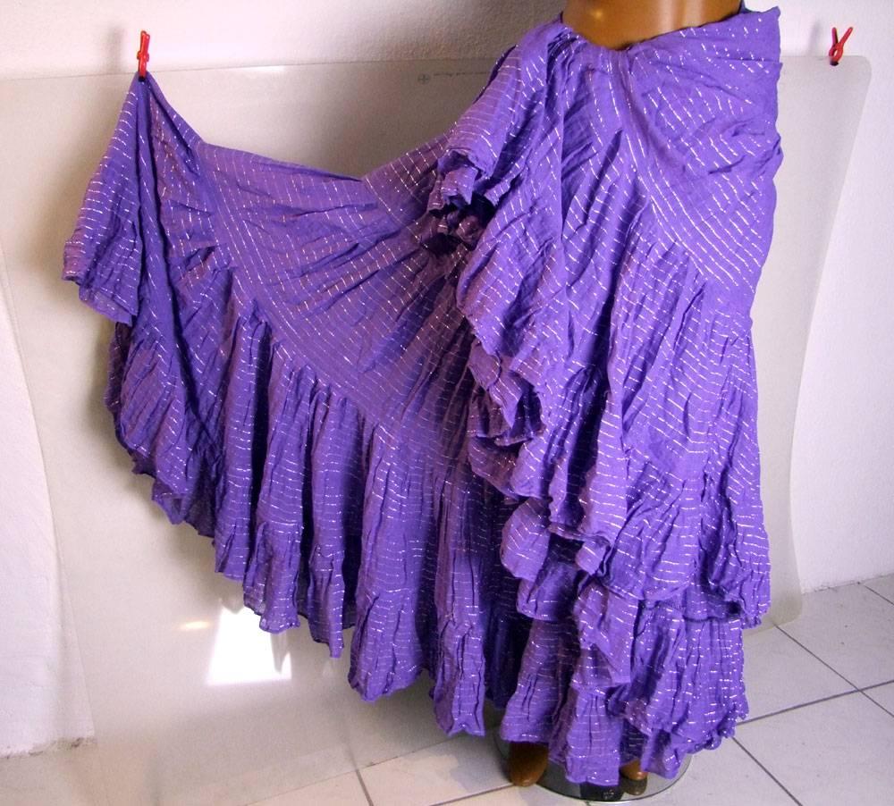 Tribalskirt Lurex, purple