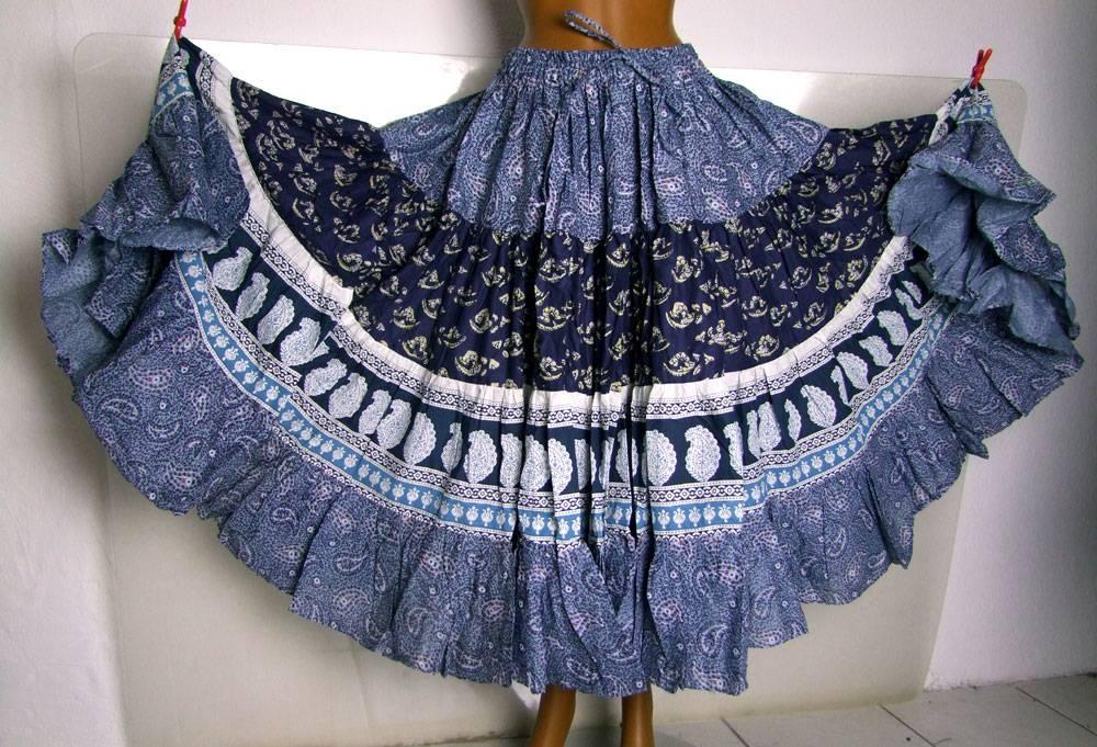 Blockprint Tribal Skirt