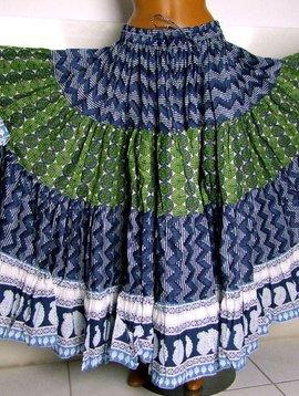 Blockprint Skirt/ Tribalrock
