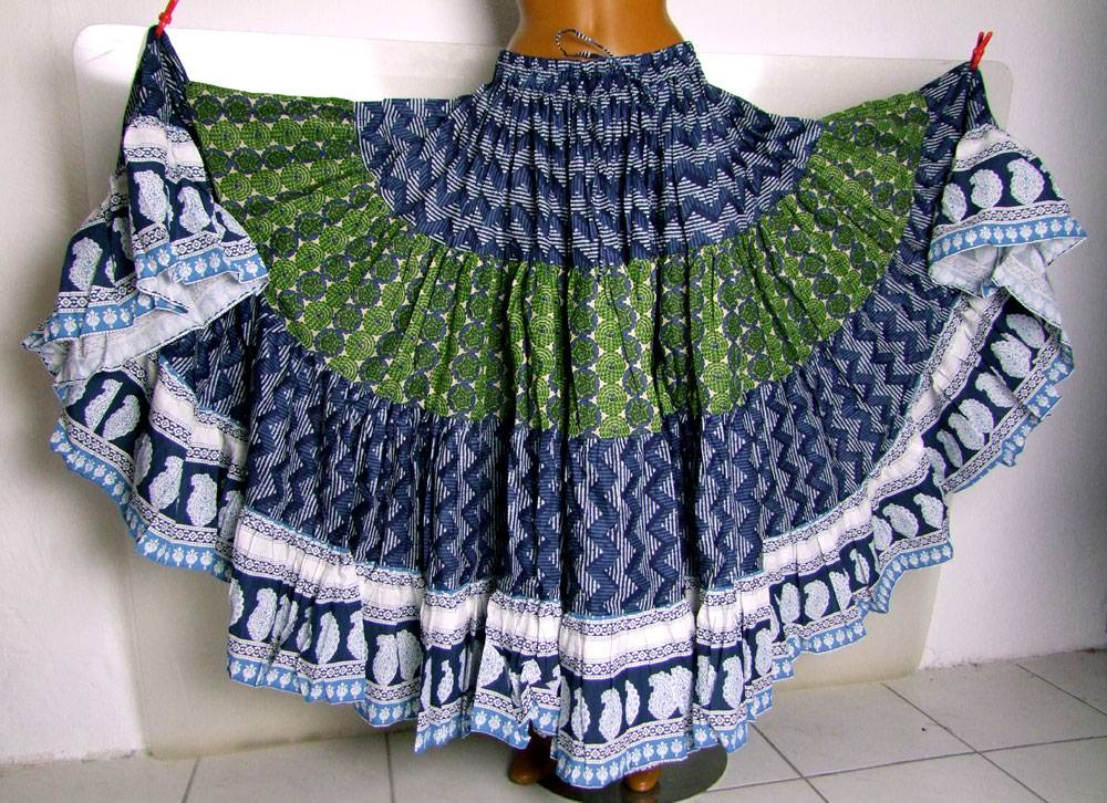 Blockprint Tribal Skirt