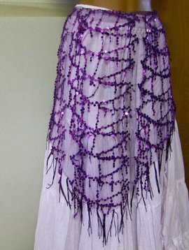 Sequin scarf, different colours
