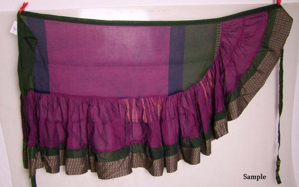 Wickelrock/ Wrap Skirt Baumwoll Satin