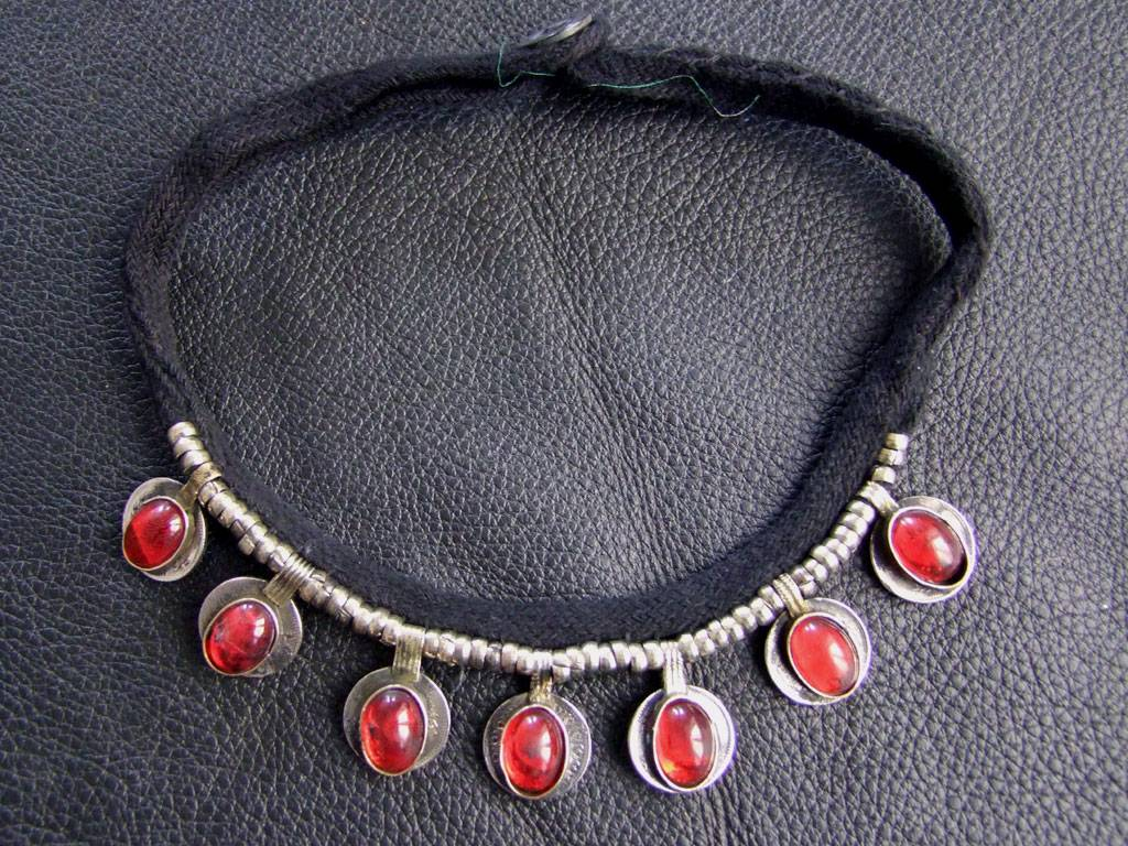 Tribal Necklace with red stones