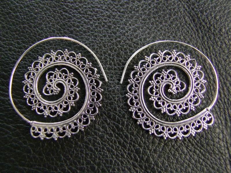 Tribal German Silver Earrings