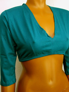 Tribal Top, Choli, 3/4 Arm, teal