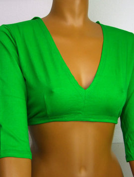 Tribal Top, Choli, 3/4 Arm, green