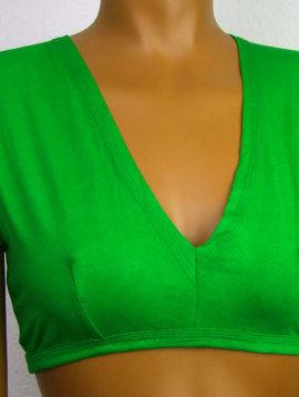 Tribal Top, Choli, kurzer Arm grün