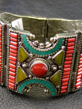Tribal bracelet with stones