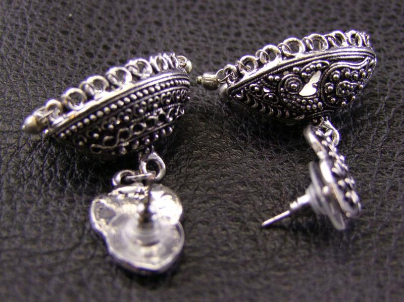 German Silver Jhumka Earrings