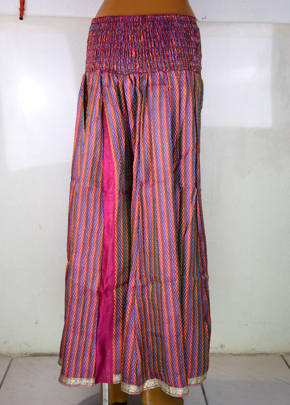 Fluffy Tribal Pantaloon  Sari Satin
