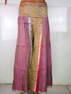 Fluffy Tribal Pantaloon  Saree Satin