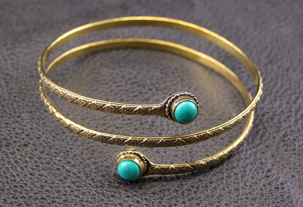 Tribal brass Upperarm Bracelet