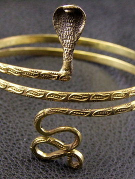 Snake  Brass Upperarm Bracelet