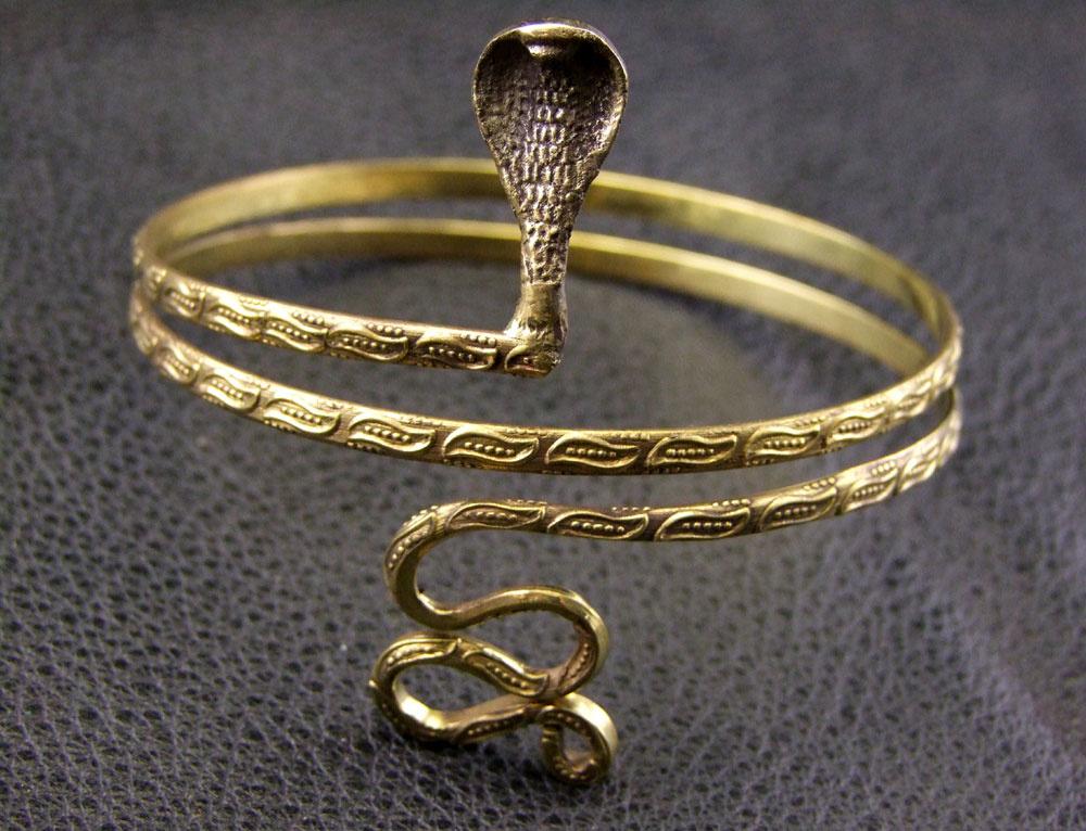 Snake  Tribal brass Upperarm Bracelet