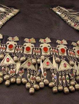 Turkmenen Tribal Kopfschmuck / Gürtel