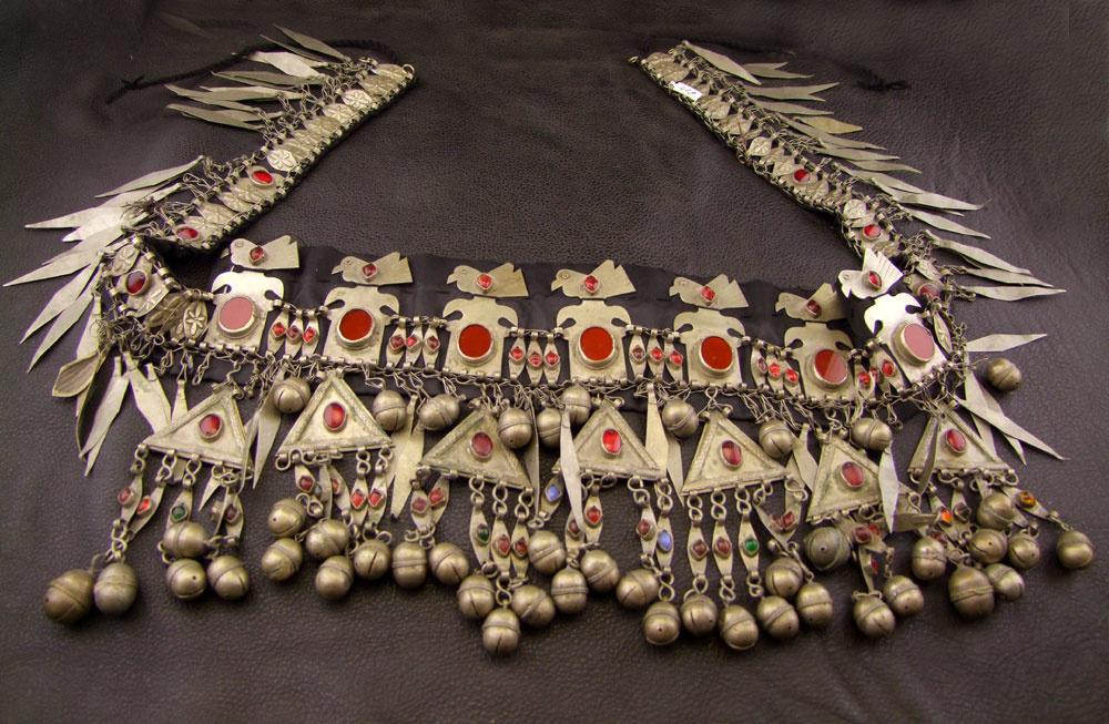 Turkmenen  Tribal Kopfschmuck/ Gürtel