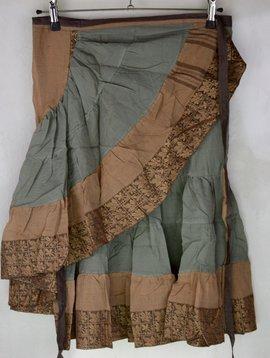 Wickelrock/ Wrap Skirt Baumwoll Sari