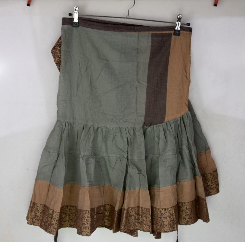 Wickelrock/ Wrap Skirt Baumwoll Satin
