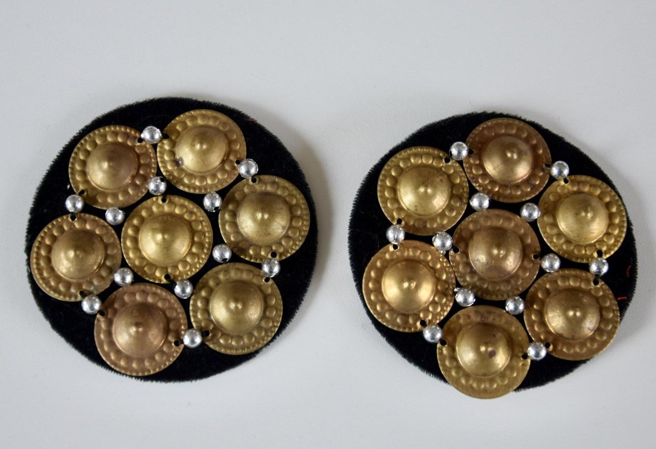 Tribal Medaillons schwarz/  gold-bronze