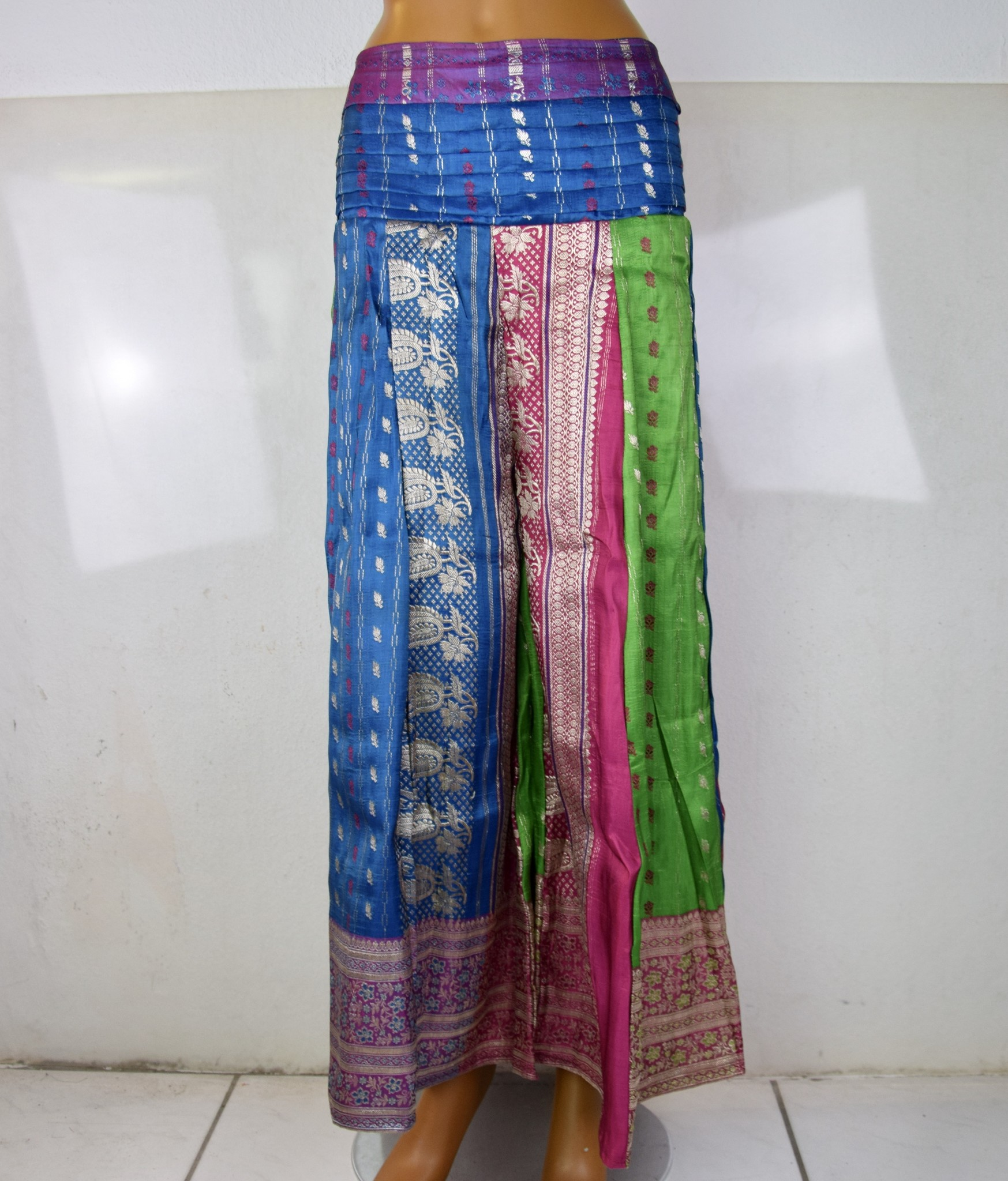 Fluffy Tribal Pantaloon  Sari Satin