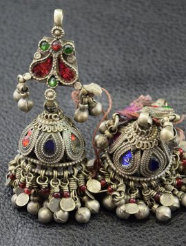 Tribal earrings/ bells