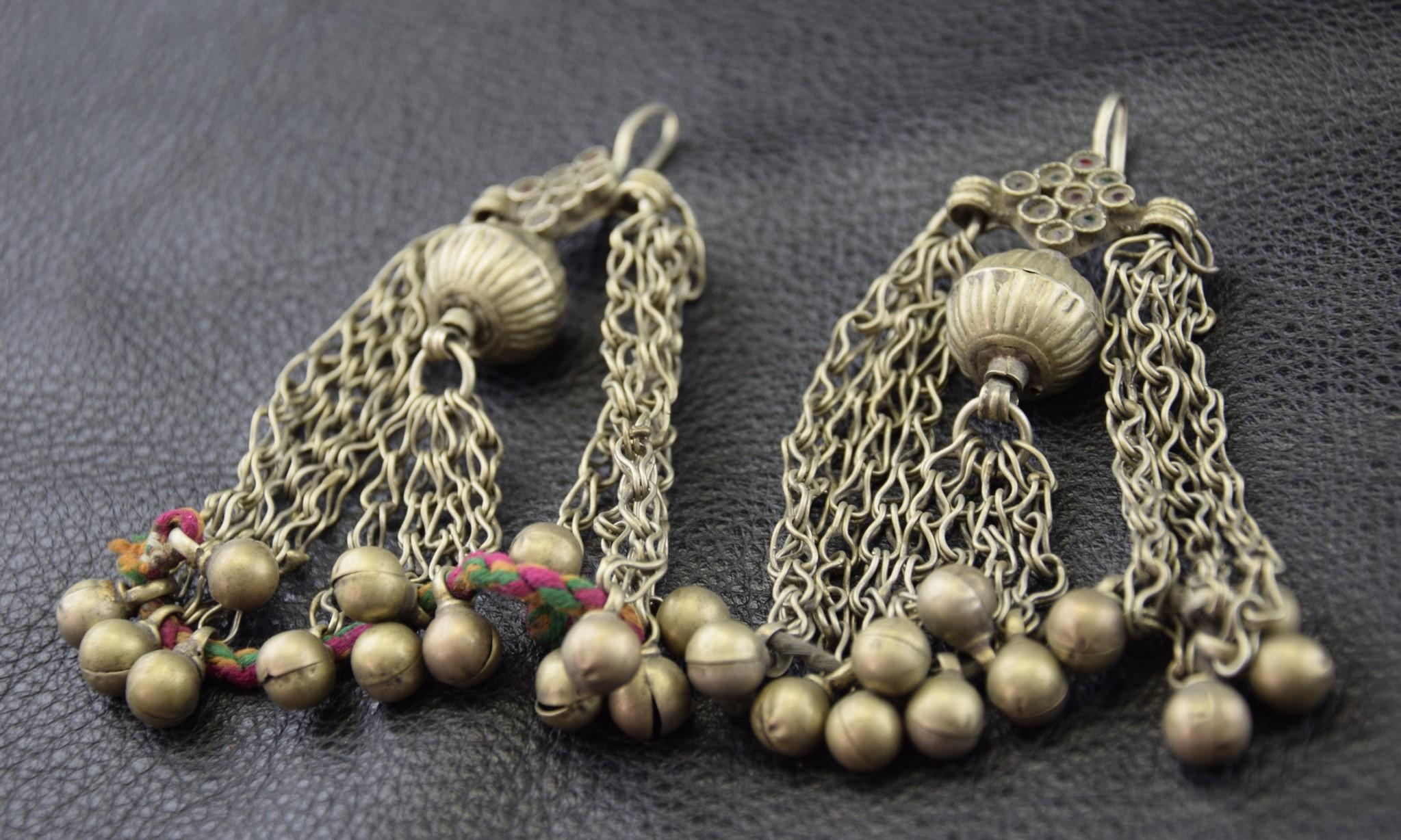 Tribal earrings/ bells