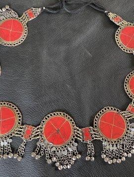 Tribal Hüftgürtel/ Tribalgürtel rot