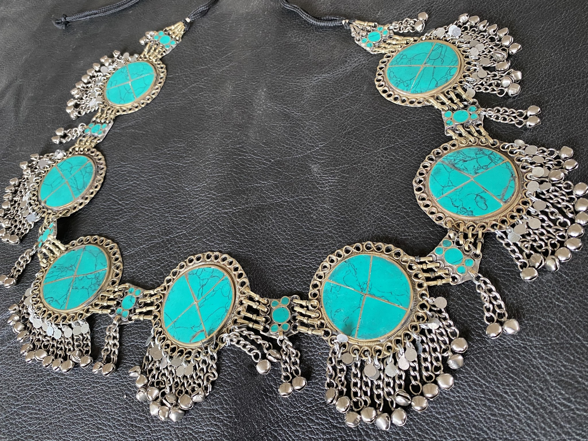 Tribal Belt  turquoise