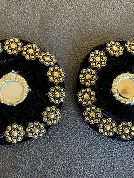 Tribal Medaillons schwarz/ gold