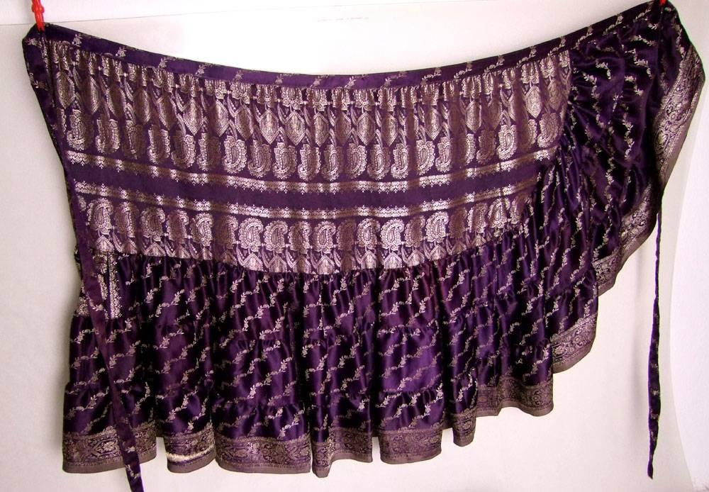 Wickelrock/ Wrap Skirt Sari Satin