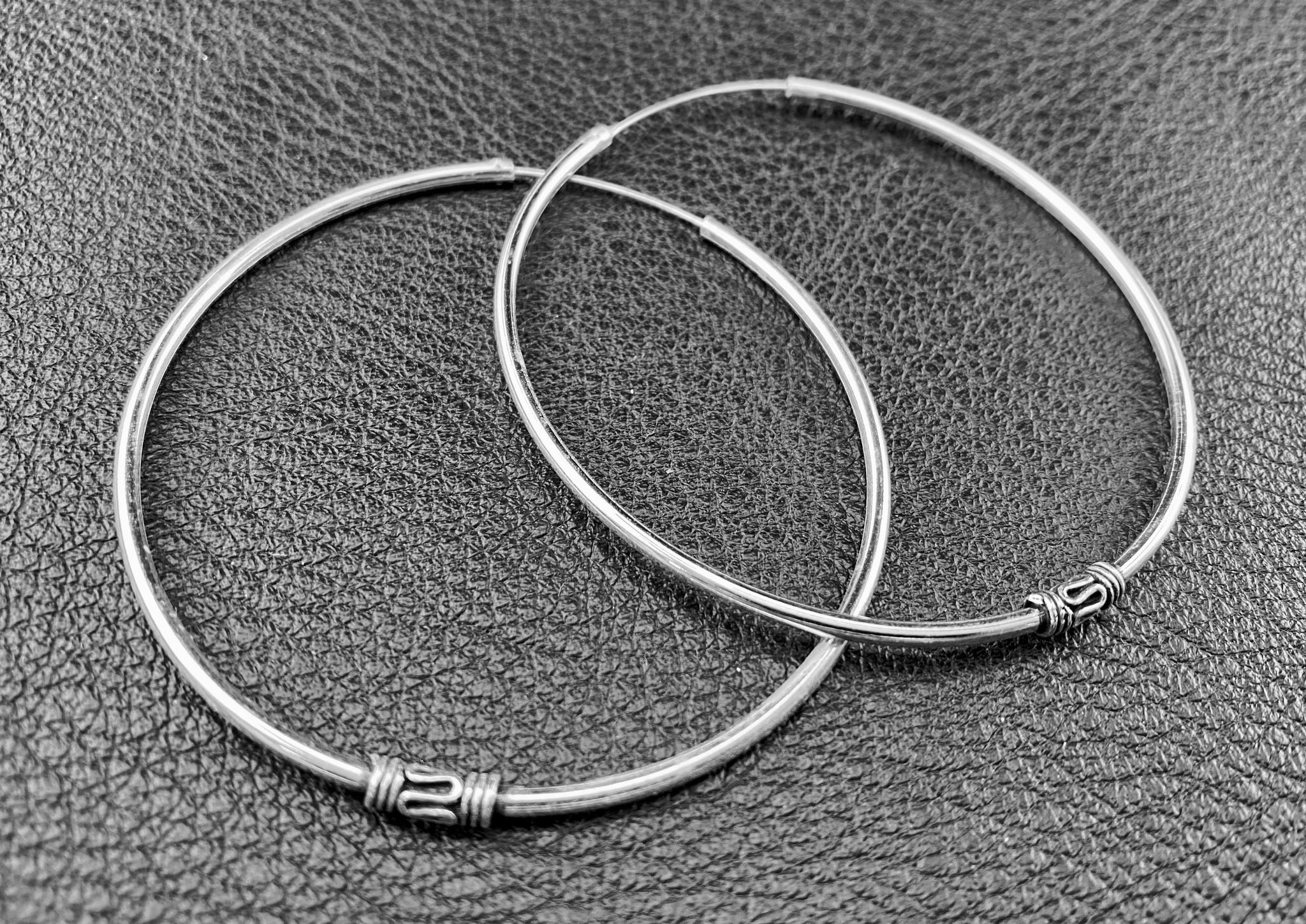 Bali Creolen, Silver Earrings