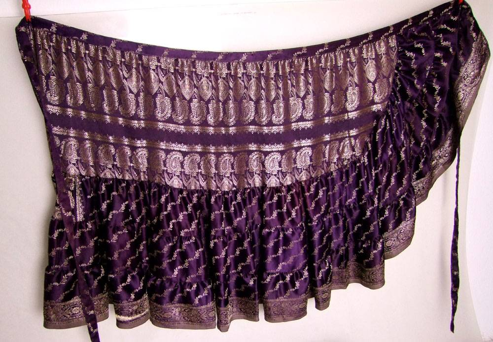 Wickelrock/ Wrap Skirt Sari Satin