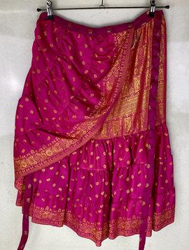 Wrap Skirt Sari Satin