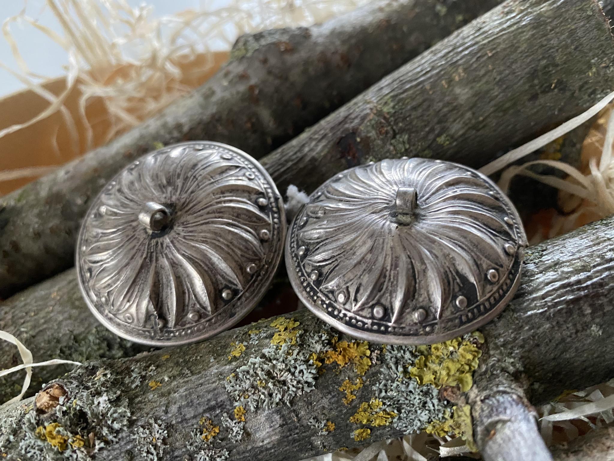 Alte ind. Silber Ohrringe/ Tunnel/ Plugs
