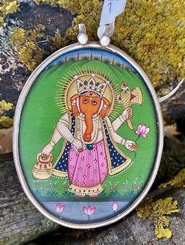 Silber Ganesh Anhänger
