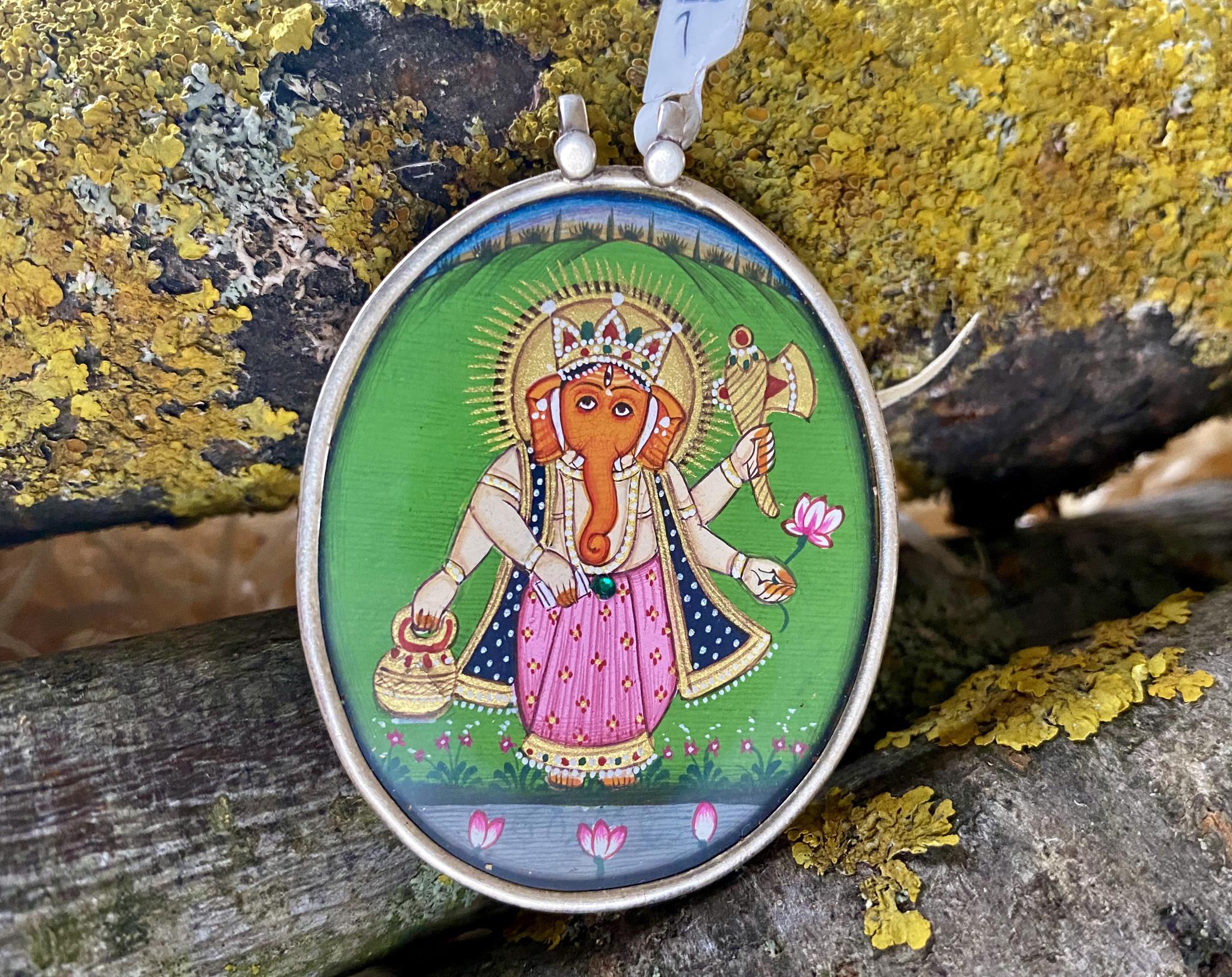 Silver Ganesh Pendant