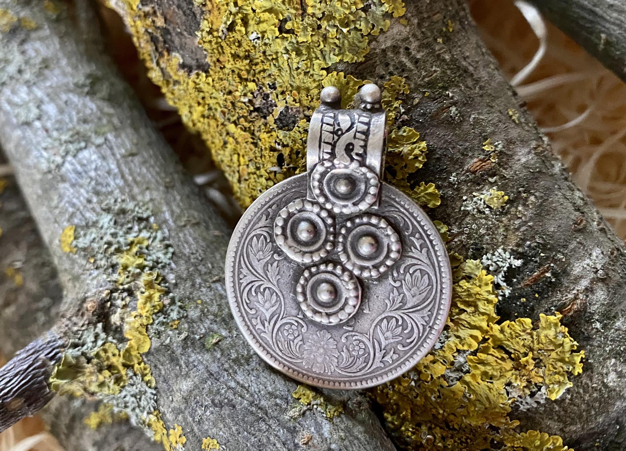 Silver Pendant/ coin