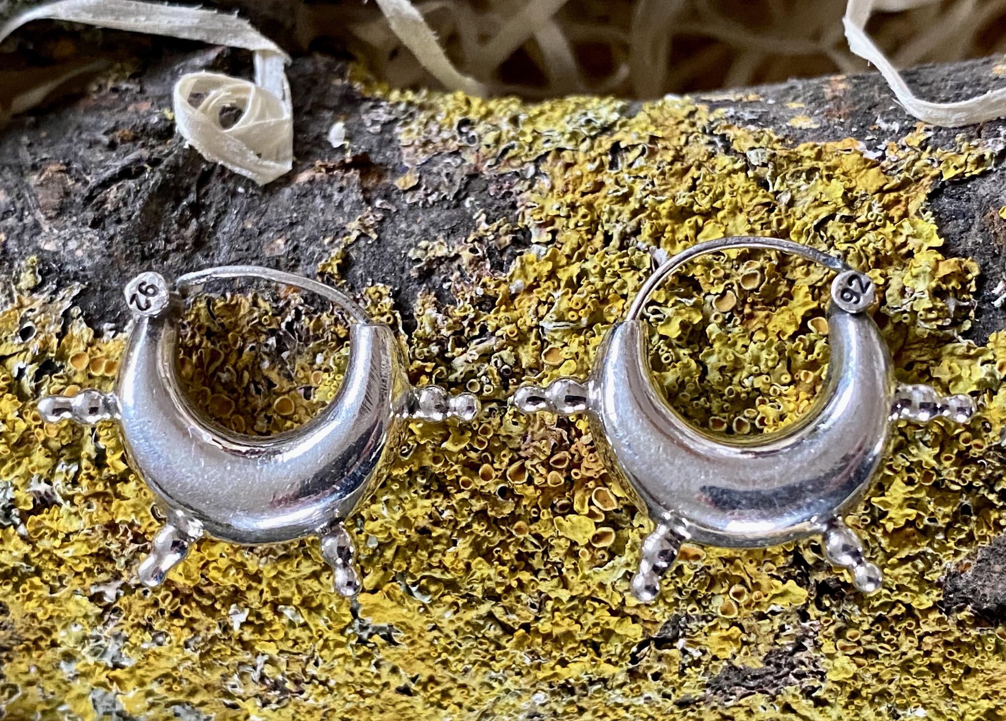 Silver Bali Earrings medium