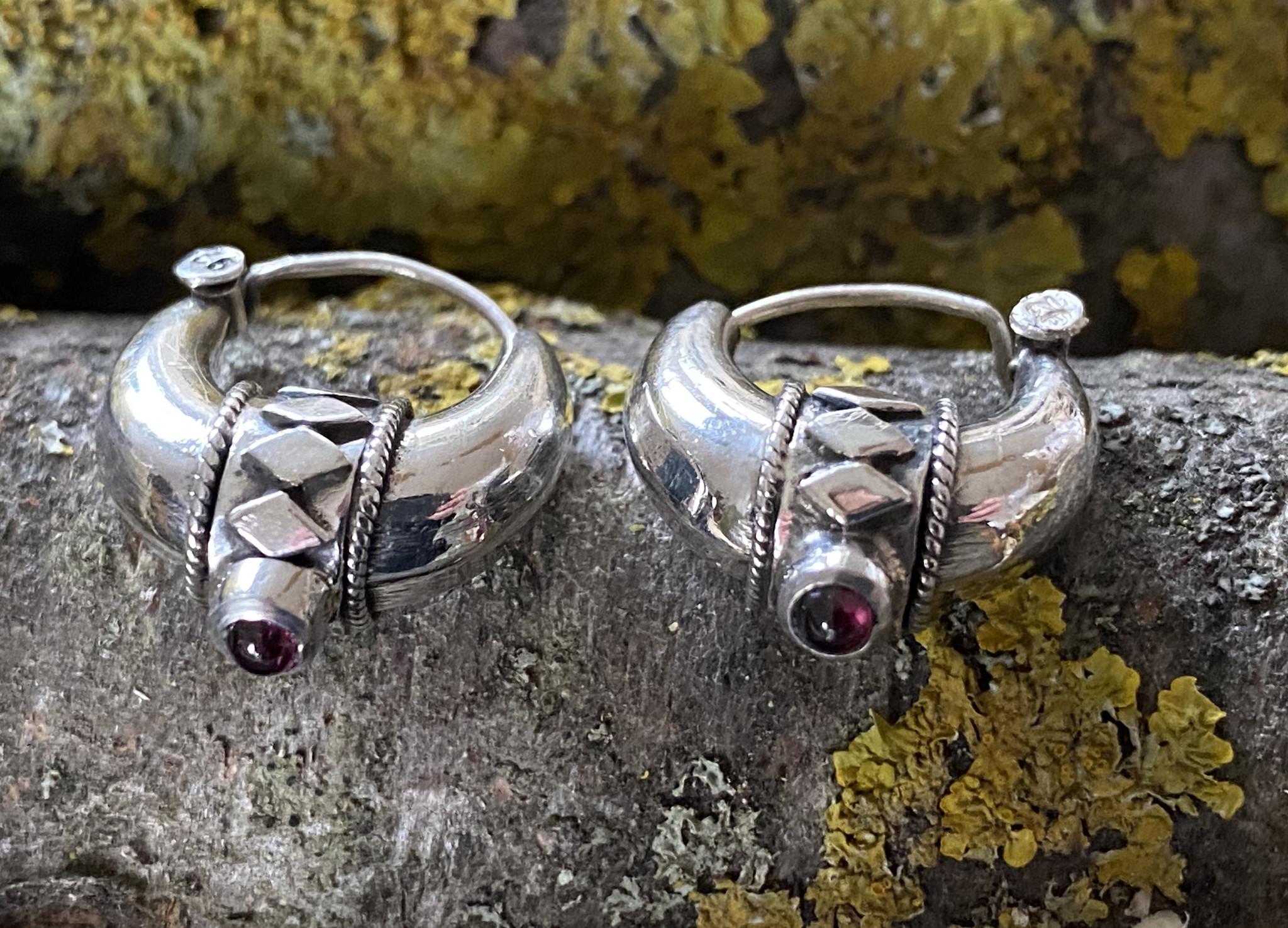 Silver Bali Earrings small