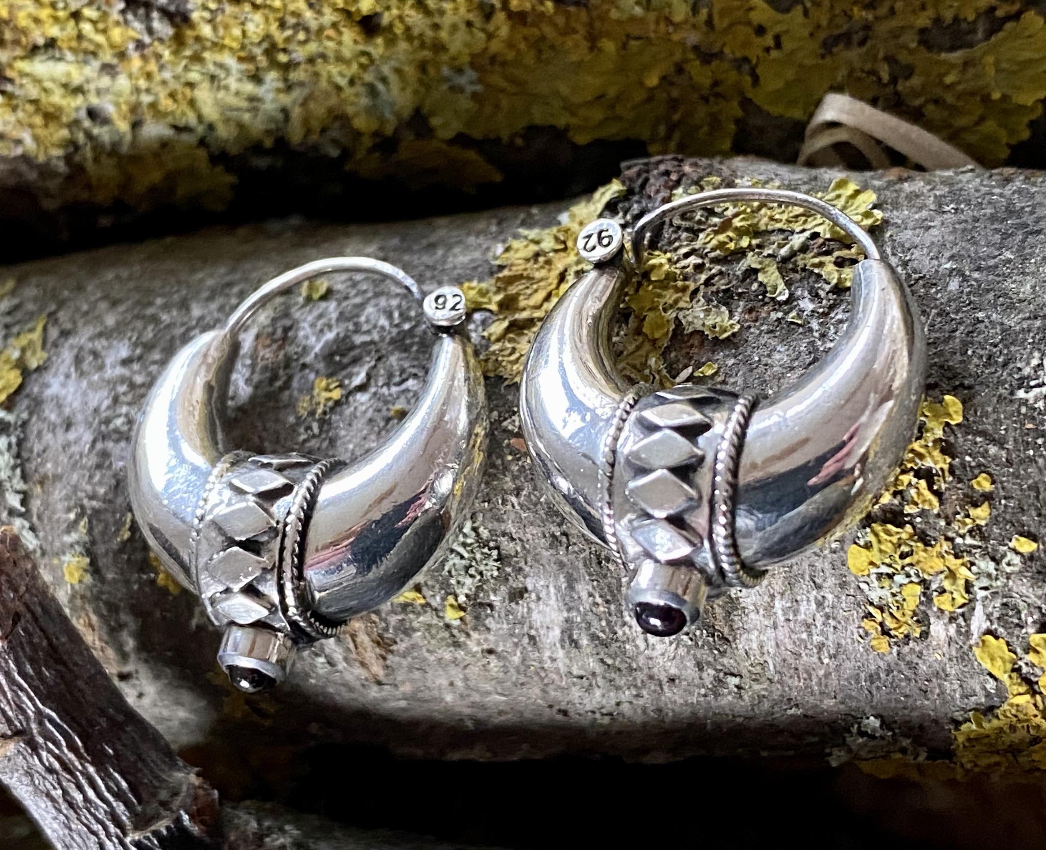 Bali Creolen, Silber