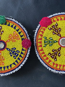 Perlen Medaillons, Paar