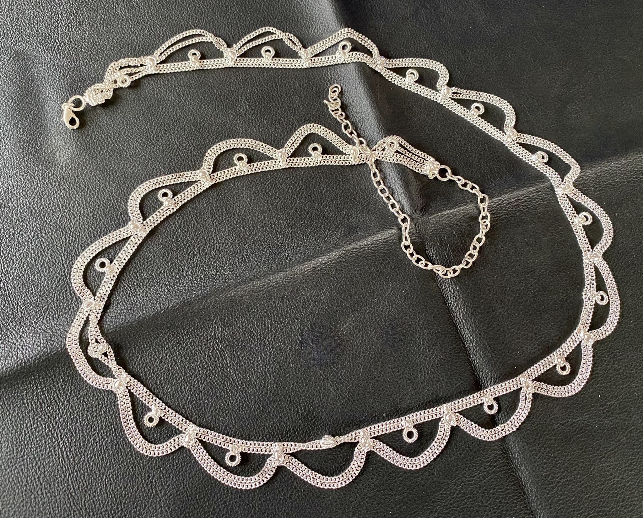 Silver tone Belly chain