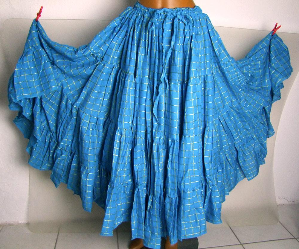 Tribal Skirt  turquoise