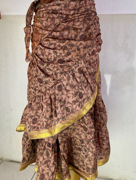 Wickelrock/ Wrap Skirt Vintage Sari