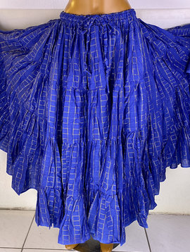 Tribal Skirt  24 yards blue