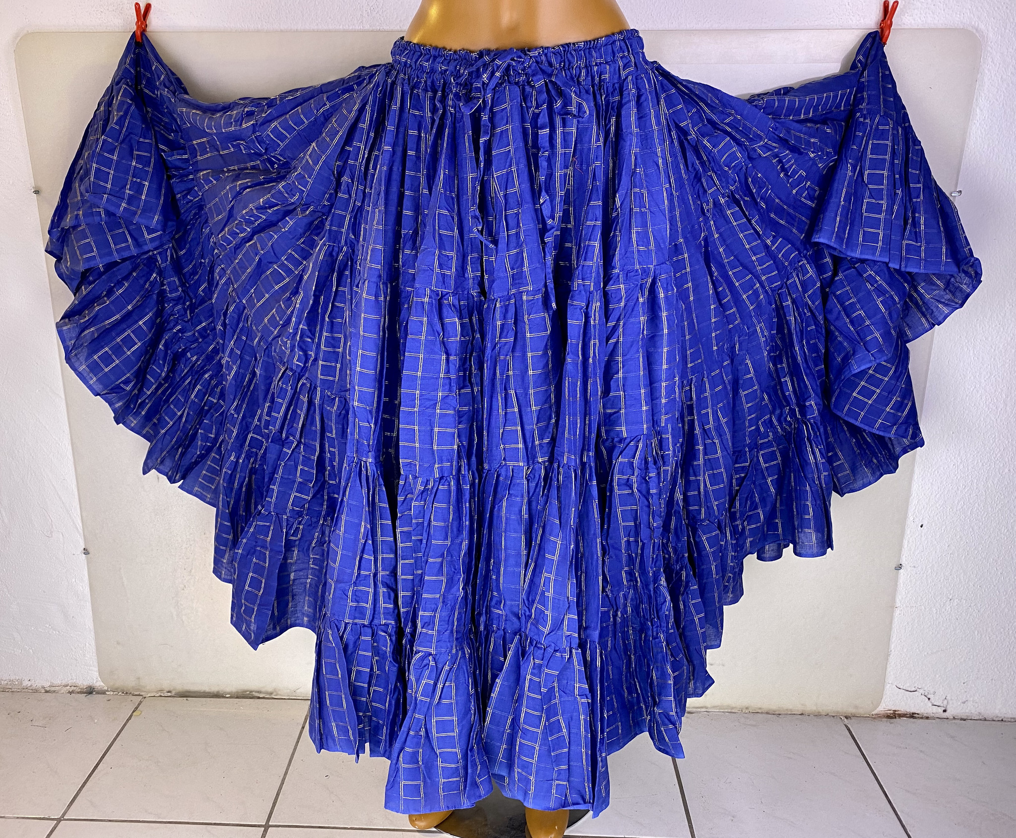 Skirt/ Tribalrock  24 yards blau