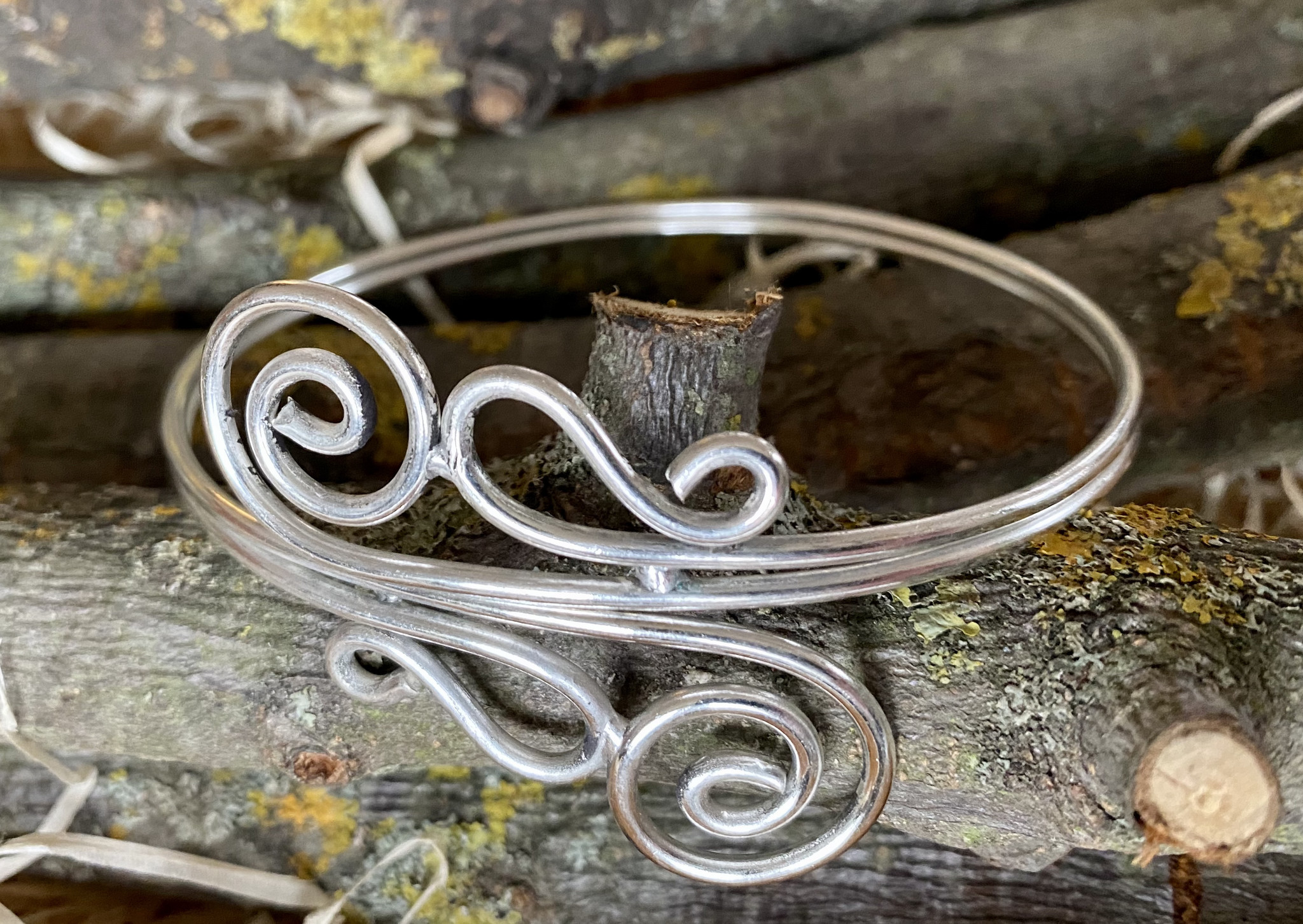 Tribal German Silver  Upperarm Bracelet