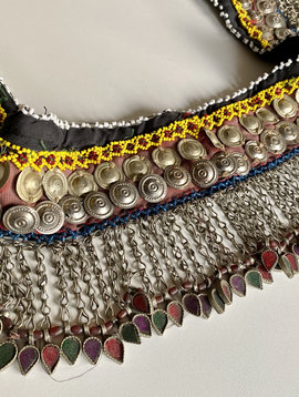 Tribal belt with metal fringe