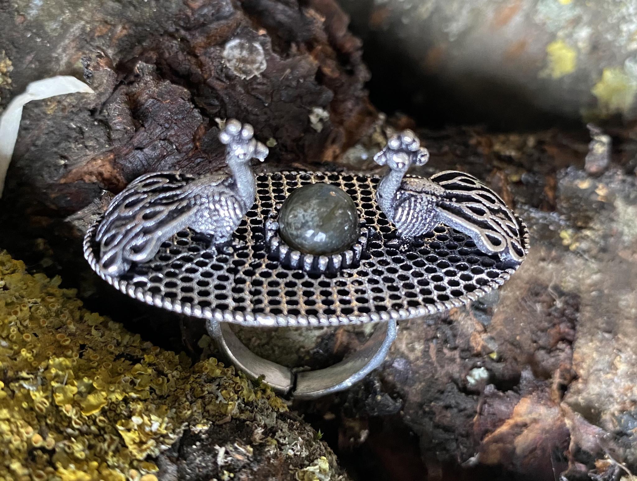 Banjara Tribal Ring peacock
