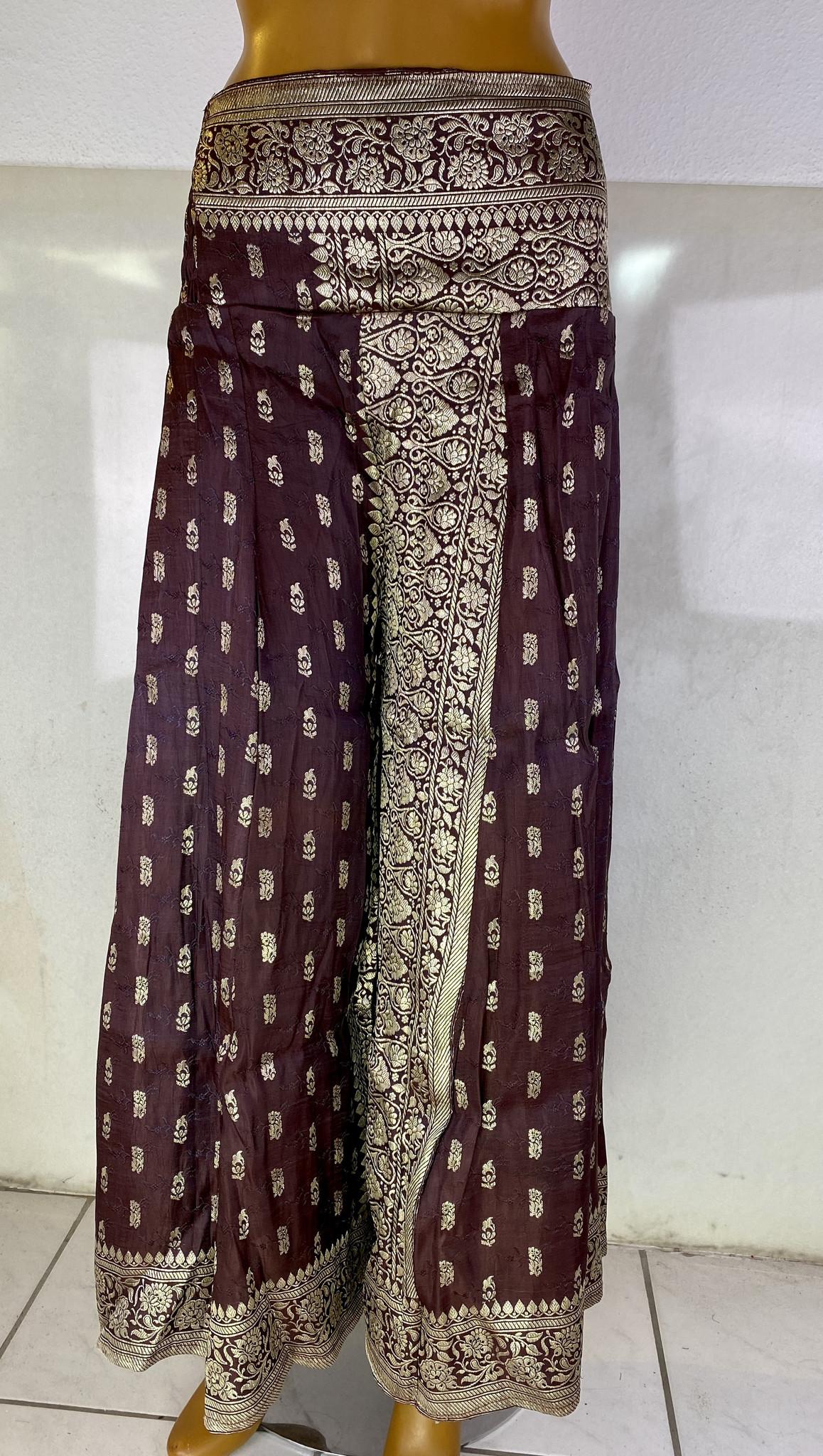 Fluffy Tribal Pantaloon  Saree Satin